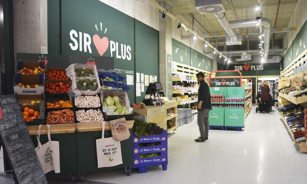 SirPlus rettet Lebensmittel aus Supermärkten.