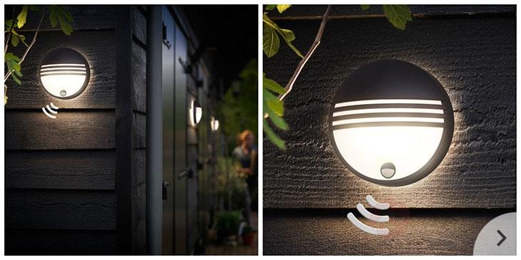 Licht im Garten mit Leuchten mit Bewegungsmelder