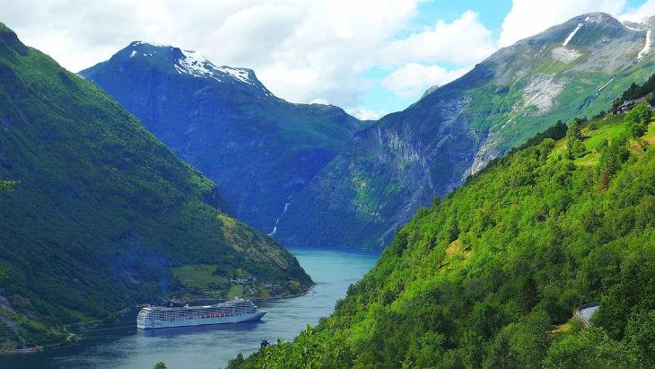Malerische Landschaften in Skandinavien