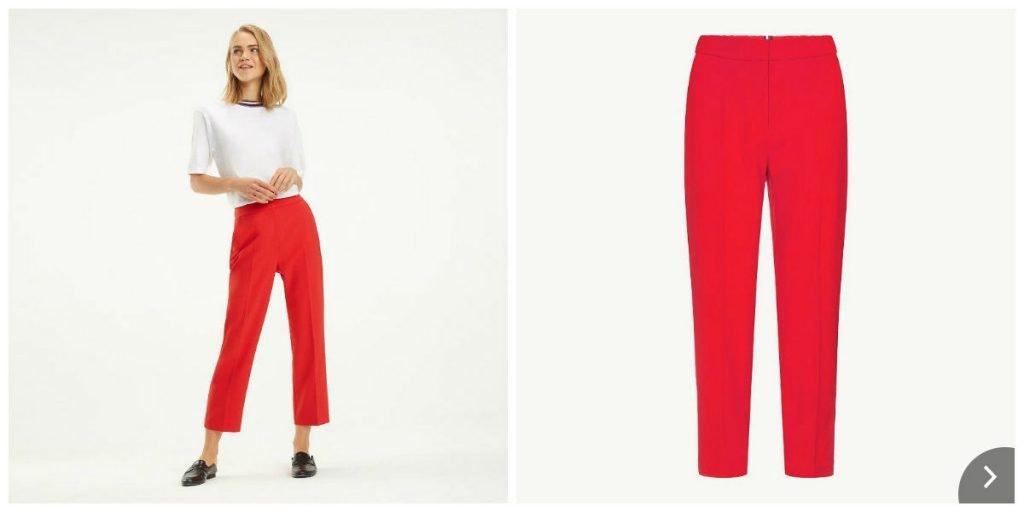 Lockere Hose in Rot von Tommy Hilfiger