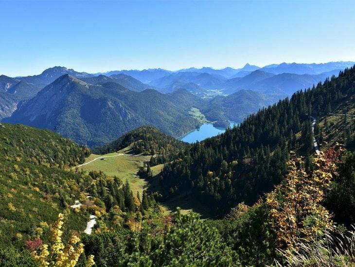 Wandern in Deutschland Herzogstand mit Walchensee